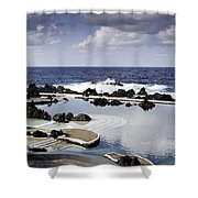 Natural Pools In Porto Moniz, Madeira Shower Curtain