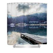 Nature Around Lake Lure Chimney Rock And Broad River North Carol Shower Curtain