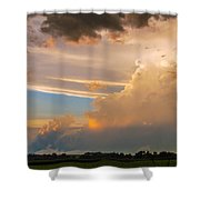 Nebraska Hp Supercell Sunset Shower Curtain