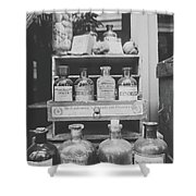 New Orleans Apothecary - Bw Haze Shower Curtain
