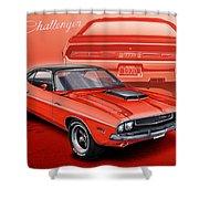 Dodge Challenger 1970 R/t Shower Curtain