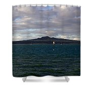 New Zealand - Vessel Departing Auckland Shower Curtain