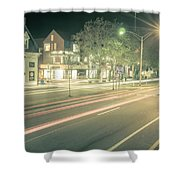 Newport Rhode Island City Streets In The Evening Shower Curtain