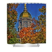 Notre Dame's Golden Dome Shower Curtain