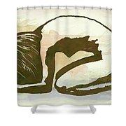 Nude - Pop Art Poster  Shower Curtain