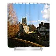 Nunney Church Shower Curtain
