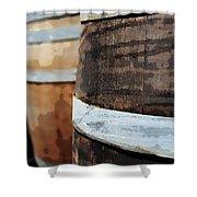 Oak Wine Barrel Shower Curtain