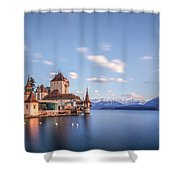 Oberhofen - Switzerland Shower Curtain