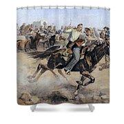 Oklahoma Land Rush, 1889 Shower Curtain
