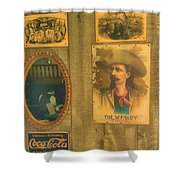 Old West Antiques Shower Curtain