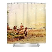 On The Road To Thebes Shower Curtain