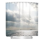 On The Way To Isla Muheres Shower Curtain