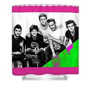 One Direction Collection Shower Curtain
