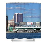 Panoramic View Of Atlantic City, New Jersey Shower Curtain