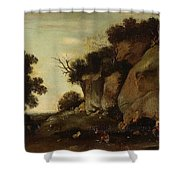 Pastoral Scene At The Cave Shower Curtain