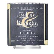 Personalized Wedding Invitation Shower Curtain
