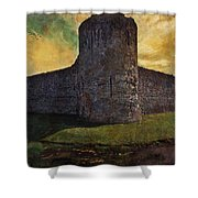 Pevensey Castle Ruins Shower Curtain
