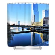 Philly Over The Schuylkill Shower Curtain