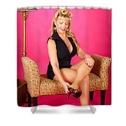 Pin Up #44 Shower Curtain