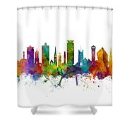 Plymouth England Skyline Shower Curtain