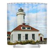 Point Wilson Lighthouse Shower Curtain