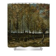 Poplars Near Nuenen Shower Curtain