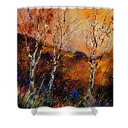 3 Poplars Shower Curtain