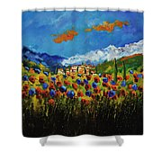 Poppies In Tuscany  Shower Curtain
