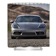 #porsche #718cayman S #print Shower Curtain