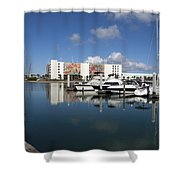 Port Canaveral Florida Usa Shower Curtain