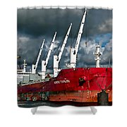 Port Of Amsterdam Shower Curtain