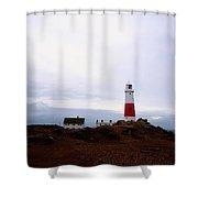 Portland Bill - England Shower Curtain