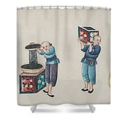 Portraying The Chinese Tea Traders Shower Curtain