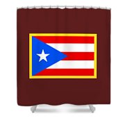 Puerto Rico Flag Shower Curtain