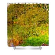 Q Landscape Shower Curtain