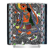 Radha Krishna Color Shower Curtain