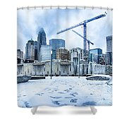 Rare Winter Weather In Charlotte North Carolina Shower Curtain