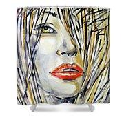 Red Lipstick 081208 Shower Curtain