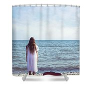 Red Suitcase Shower Curtain