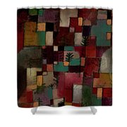 Redgreen And Violet-yellow Rhythms Shower Curtain