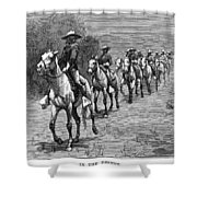 Remington: 10th Cavalry Shower Curtain by Granger