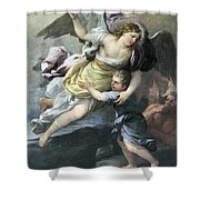 Rendition Of A Guardian Angel Shower Curtain