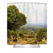 Returning From The Harvest Shower Curtain