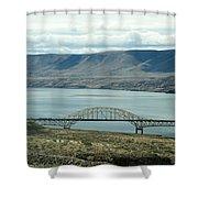 River Bridge Shower Curtain
