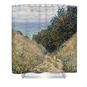 Road At La Cavee. Pourville Shower Curtain