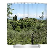 Rolling Green Hills With Trees Shower Curtain