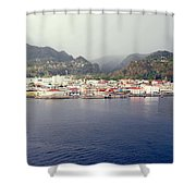 Roseau Dominica Shower Curtain