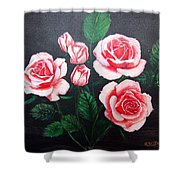 3 Roses Shower Curtain