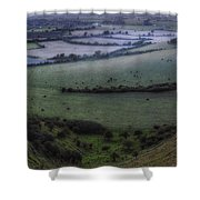 Roundway Hill - England Shower Curtain