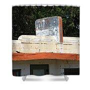 Route 66 - Glenrio Texas Shower Curtain